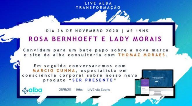 """ALBA Consultoria realiza Live Gratuita sobre """"Transformação na Pandemia"""", nesta quinta-feira, 26."""