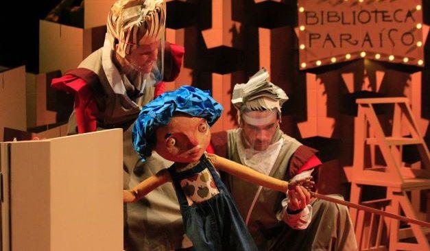 """Espetáculo """"O Paraíso Mais Belo do Mundo"""" reúne teatro de animação, música e literatura para crianças e jovens."""
