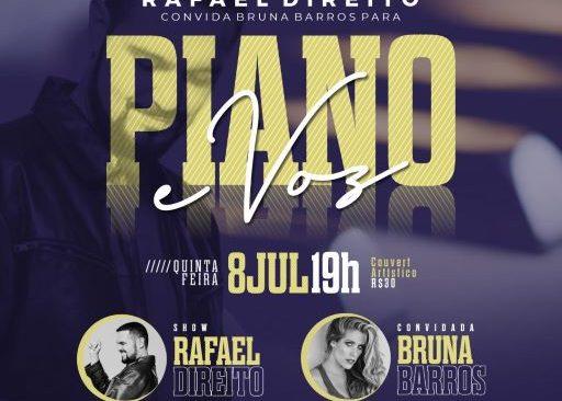 Rafael Direito convida Bruna Barros para Piano e Voz HOJE, na Lagoa.