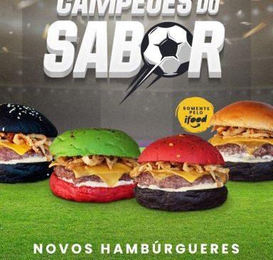 VIZINHANDO apresenta Hambúrgueres com tema de futebol.